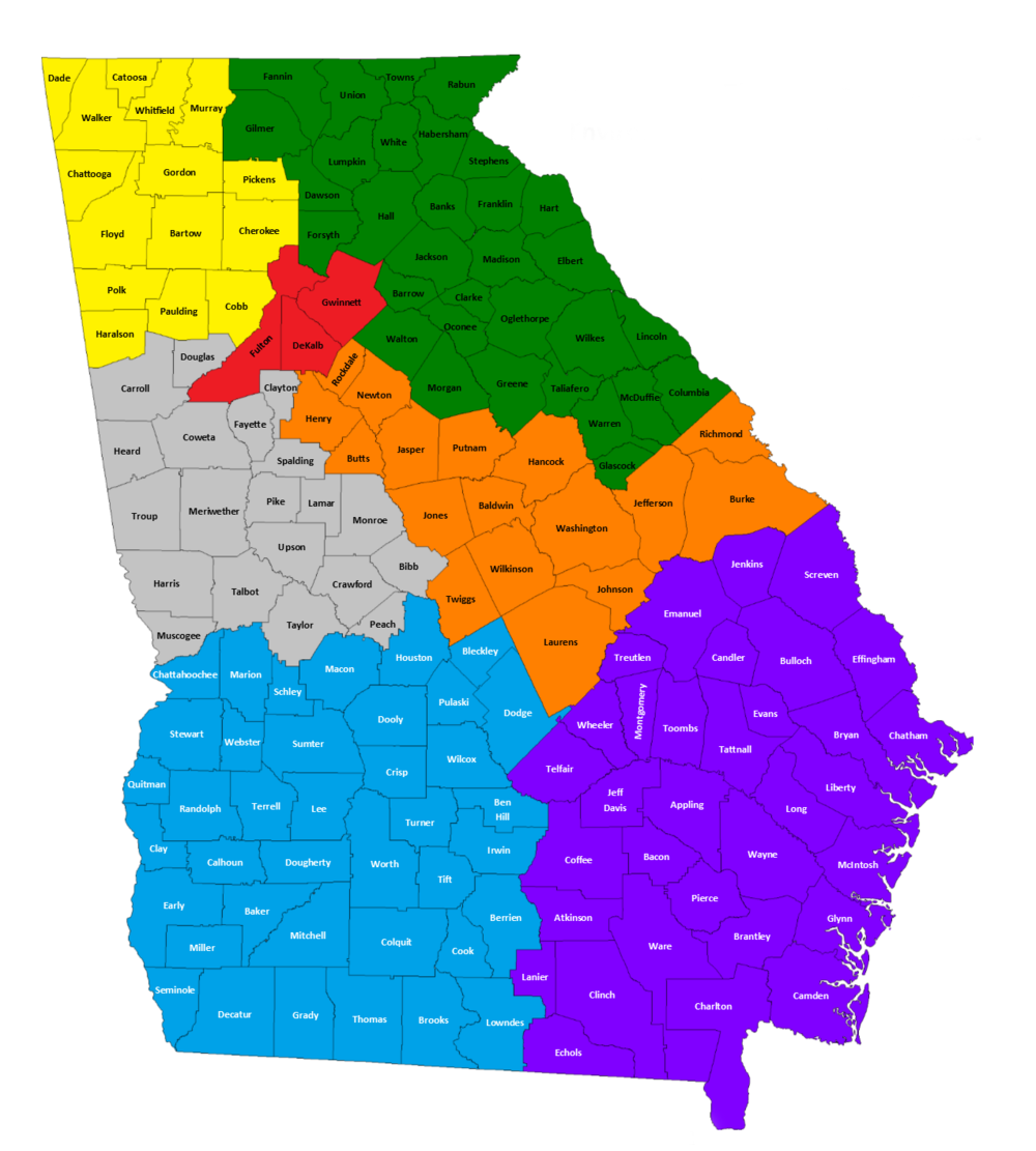 Statewide Map of Tire Management Unit Districts